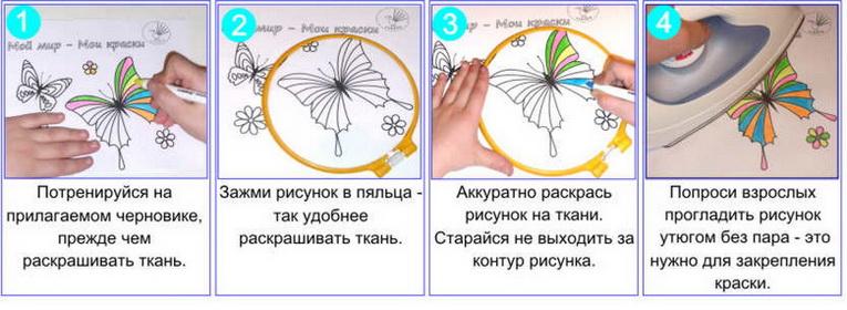 Как пользоваться фломастерами для ткани